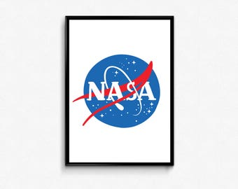 NASA Poster, Geeky Poster, Astronomy for Kids, Science Poster, Space Wall Art, NASA Print, Science Gifts, Astronaut Print, Space Poster