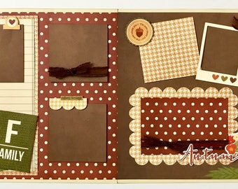 Family Autumn 2 Page Scrapbook Page Kit