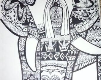 Art print- Elephant print