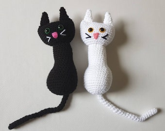 Cat Toy, Small Crochet Cat, Soft Cat Toy, Snuggle Cat Toy, Handmade Crochet Cat, Amigurumi Cat - MADE TO ORDER