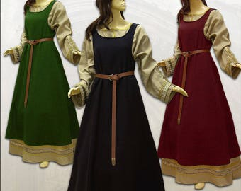 Middle Ages Surcot Dress Wool 4 colors