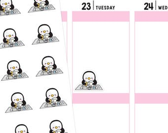 Washing Dishes Planner Stickers, Washing Dishes Stickers, Dish Washing Stickers, Cleaning Planner Stickers, Penguin Stickers