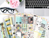 Fitspo No White-Space Weekly Kit - Planner Stickers