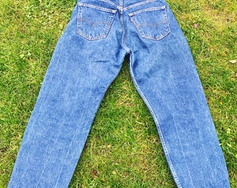 Vintage Levi Strauss / Levis Mens Denim Jeans / W 31 L 32 / Pants / Trousers / Dark Blue / 508