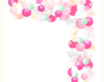 DIY Balloon Garland Kit Inspired by Brittany Jepsen Photo Shoot - Makes a Full 12 Foot Balloon Garland - Baby Shower or Bridal Shower Decor