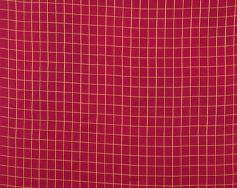"Magenta Fabric, Geometric Print, Decorative Fabric, Dress Material, Craft Fabric, 42"" Inch Cotton Fabric By The Yard ZBC9155C"