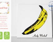 Andy Warhol Banana The Velvet Underground Nico, Canvas Print / FREE SHIPPING / Pop Art canvas print, Banana Print, square, with signature