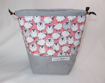 Sock Project Bag // Emily Sack // Field of Fleece