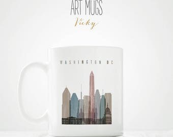 Mug of Washington DC skyline - ArtPrintsVicky.com
