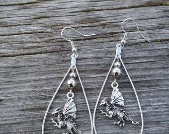 Dragon Earrings One of a Kind