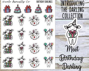 Birthday Darlings Planner Stickers