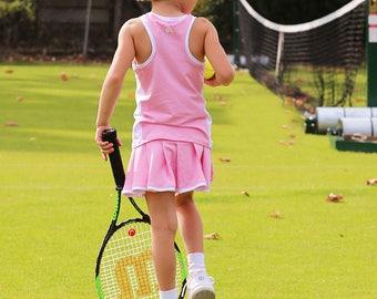 Girls Tennis Skirt & Top Pink Roberta | Girls Tennis Apparel | Junior Tennis Clothes
