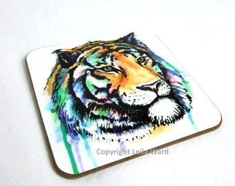 Tiger coaster watercolour original