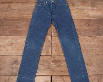 "Womens Vintage Levis Red Tab 501 1980s Mom Boyfriend Jeans USA 30"" x 34"" R7005"