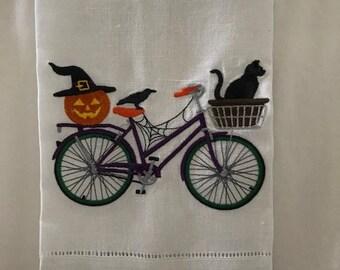 HaLlOwEeN 100% Linen Tea Towels