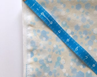 Made to Order Bias Tape or Quilt Binding, Handmade Bias Tape, Handmade Quilt Binding, 100% Cotton, Blue, White, Hexagons, Robert Kaufman