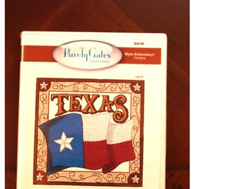 Mylar Texas 2 by Purely Gates Embroidery:  machine embroidery cd.
