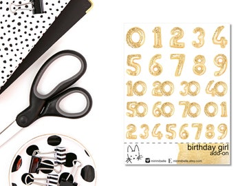 Birthday Girl - Numbers - ADD-ON Deco Sticker