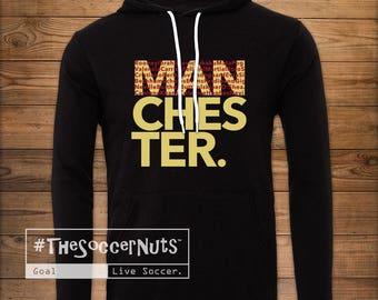 Fleece, Manchester United Fleece Hoodie, #TheSoccerNuts, Soccer Fleece, Soccer Fan, ManU, Manchester, Red Devils