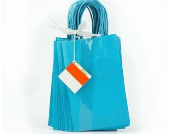 13  turquoise gift/party bags