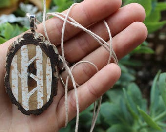 Eco Friendly Birch Tree Necklace, FREE SHIPPING, Birch Choker, Hippie Necklace, Recycled, Nature Inspired Gift, Wood Slice Jewelry, Outdoor
