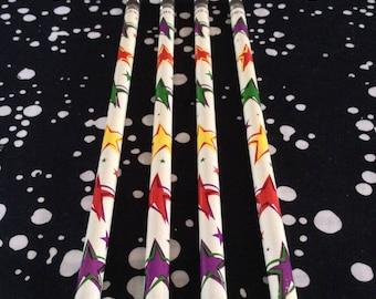 Star Student~Vintage~90's~Pentex~Set of 4~Pencils~Unused~Stars