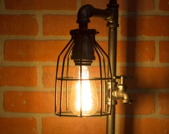 Industrial Pipe Lamp with Faucet Switch - Thomas Edison