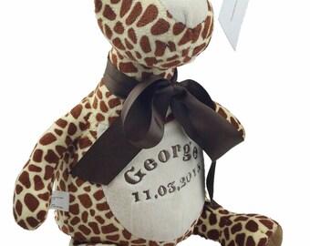 Pesonalised Giraffe Soft Toy