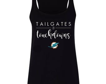 TAILGATES and TOUCHDOWNS | Miami Dolphins | Ladies Sports Shirt
