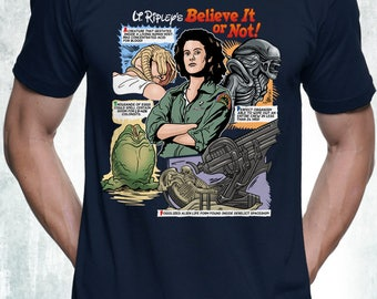 New Alien T-Shirt Funny Ellen Ripley Nostromo Parody Design Mens and Ladies Womens T-Shirt Unisex Adult Sizes