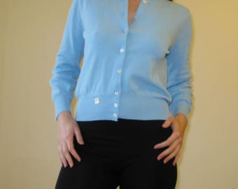 Light Blue Lady Like Style Cardigan Blouse