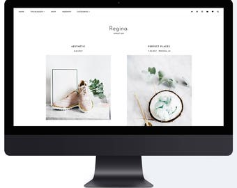 Regina | Responsive Premade Blogger Template + Free Installation