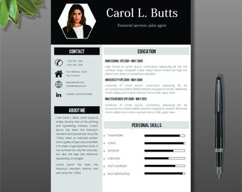 professional resume template with photo cover letter cv template word simple resume