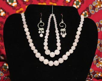 Rose Pink Jewelry Set