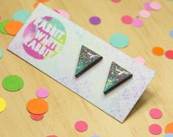 Pastel Sparkle Stud Earrings