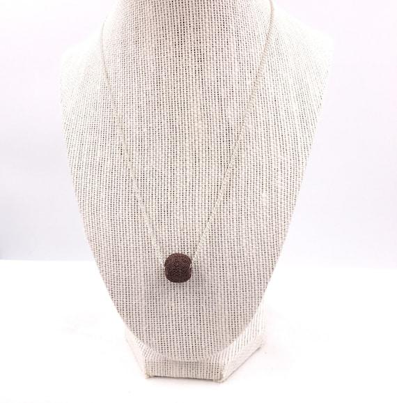 Essential Oil diffuser necklace, brown lava bead, diffuse Necklace, Girlfriend Gift, lava bead necklace, diffuser necklace, minimalist lava