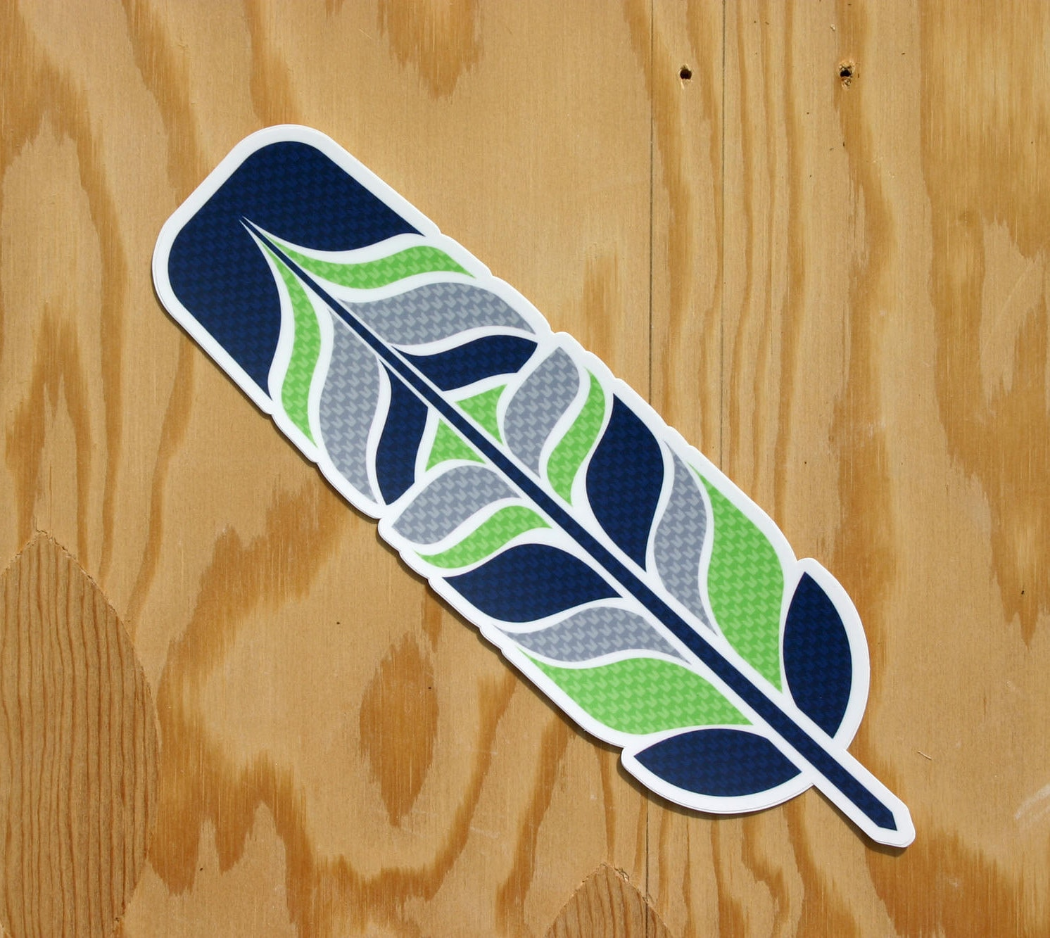 Seahawks Feather Sticker Tribal Feather 12 Feather