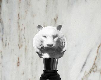Tiger Bottle Stopper, White