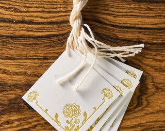 Boho Floral Letterpress Gift Tags
