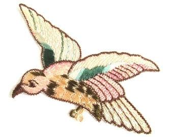 Antique Bird Applique 1930s Vintage patch, sewing supply.  #6ADG9AK4