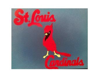 Custom Canvas Painting - St. Louis Cardinal Nation - Redbird #5
