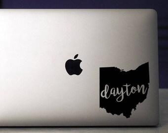 Dayton / Dayton Decal / University of Dayton / Dayton Flyers / Macbook Decal / Dayton Ohio / Laptop Decal / Ohio Decal / Dayton Sticker / UD