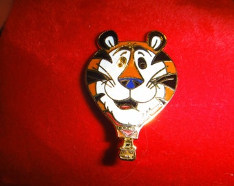Tony The Tiger Pin  , 1985 Kellogg's Tony The Tiger Pin. M , Hot Air Balloon Enamel Pin . Tony Tiger Tie Tack
