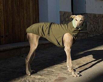 Waterproof dog coat/greyhound jacket/manteau chien/softshell dog coat/whippet coat/piccolo jacket/levrieri/waterproof dog jacket
