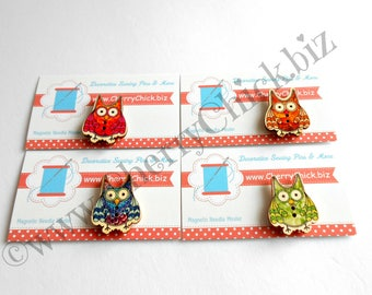 Owl Needle Minder - Needle Minder - Needle Magnet - Quilting Needle Minder -  Gift for Quilter - Embroidery - Sewing Gifts - Cross Stitch