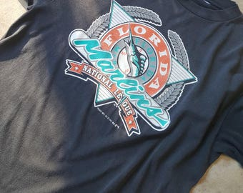 91 Florida Marlins T-shirt - Large