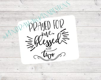 Prayed for One Blessed with Two | Oh So Soft Baby Blanket | Swaddle Blanket | Hospital Blanket | Baby Shower Gift