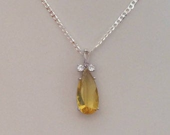 Citrine topaz necklace