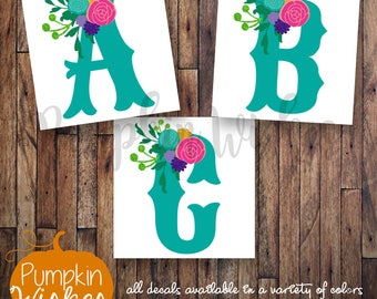 Name Decal/Yeti Decal/Monogram Decal/Floral Decal/Initials Decal/Western Decal/Laptop Decal/Cute Decals/Vinyl Decals