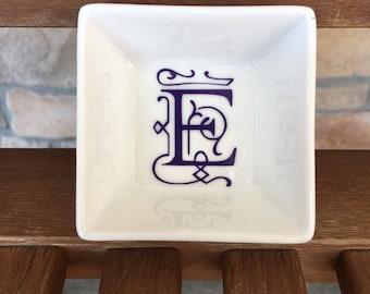 Personalized Initial, Ring Dish, Jewelry Dish, Custom Jewelry Dish, Personalized Gift, Jewelry Holder, Custom Ring Dish, Bridesmaid Gift